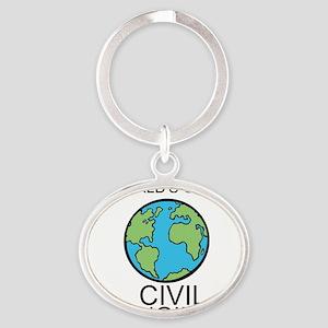 Worlds Greatest Civil Engineer Keychains