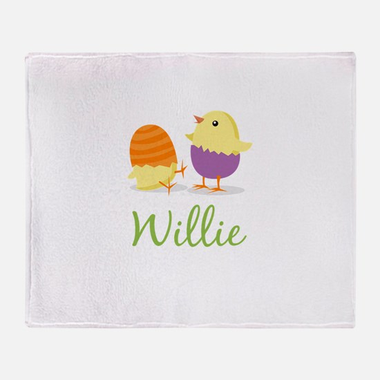 Easter Chick Willie Throw Blanket