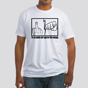 fuck you Fitted T-Shirt