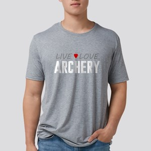 Live Love Archery Mens Tri-blend T-Shirt