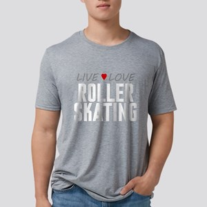 Live Love Roller Skating Mens Tri-blend T-Shirt