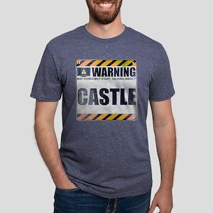 Warning: Castle Mens Tri-blend T-Shirt