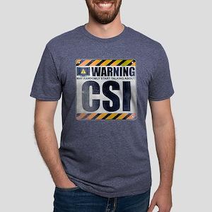 Warning: CSI Mens Tri-blend T-Shirt