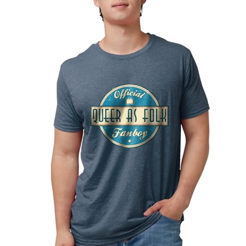 Offical Queer as Folk Fanboy Mens Tri-blend T-Shir