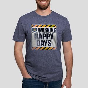 Warning: Happy Days Mens Tri-blend T-Shirt