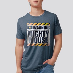 Warning: Mighty Mouse Mens Tri-blend T-Shirt