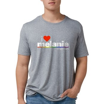I Heart Melanie Marcus Mens Tri-blend T-Shirt