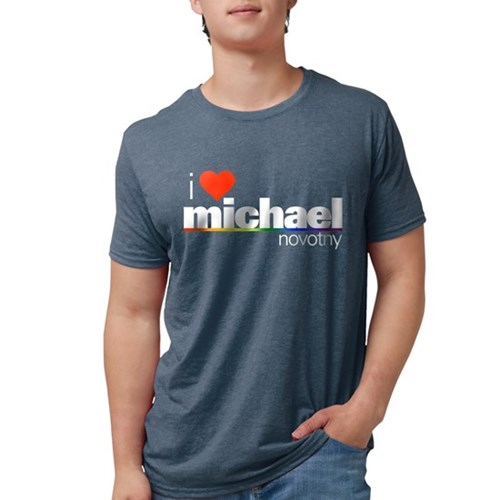I Heart Michael Novotny Mens Tri-blend T-Shirt