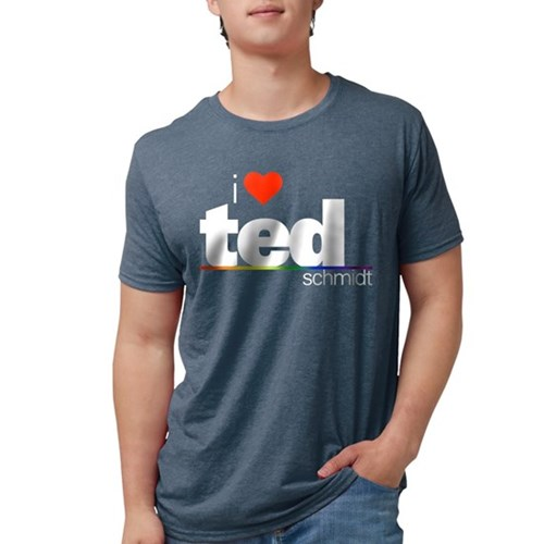 I Heart Ted Schmidt Mens Tri-blend T-Shirt