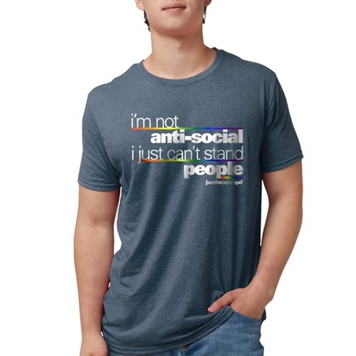 I'm Not Anti-Social Mens Tri-blend T-Shirt