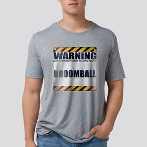 Warning: Broomball Mens Tri-blend T-Shirt