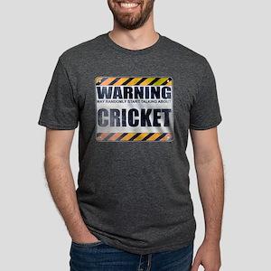 Warning: Cricket Mens Tri-blend T-Shirt