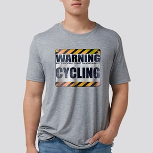 Warning: Cycling Mens Tri-blend T-Shirt