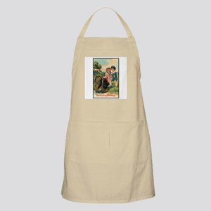 Vintage Thanksgiving Turkey and Children BBQ Apron