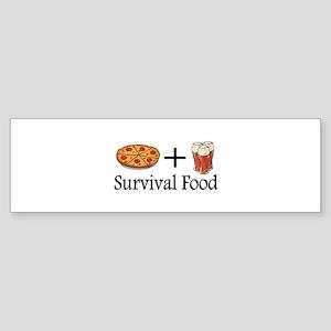 Survival Food. Pizza plus Beer Bumper Sticker