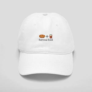 Survival Food. Pizza plus Beer Baseball Cap
