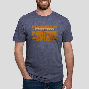 Accountant Powered by Pumpkin Spice Mens Tri-blend