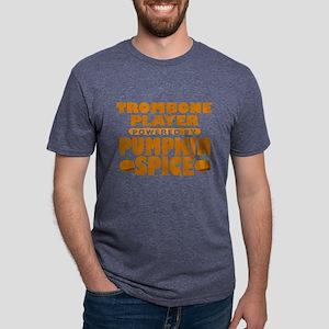 Trombone Player Powered by Pumpkin Spice Mens Tri-