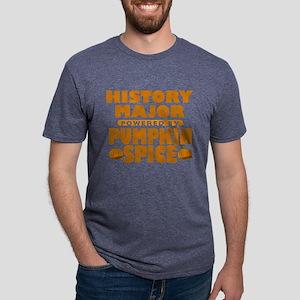 History Major Powered by Pumpkin Spice Mens Tri-bl
