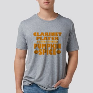 Clarinet Player Powered by Pumpkin Spice Mens Tri-