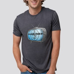 Please Stand By TV Mens Tri-blend T-Shirt