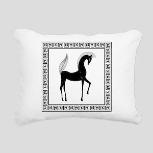 greek horse pillow Rectangular Canvas Pillow