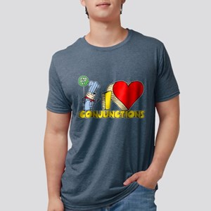 I Heart Conjunctions Mens Tri-blend T-Shirt