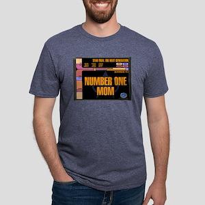 Number One Mom Mens Tri-blend T-Shirt