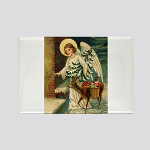 Victorian Christmas Greetings - Angel, Reindeer &
