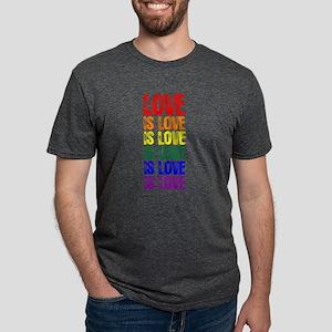 Love is Love is Love Mens Tri-blend T-Shirt