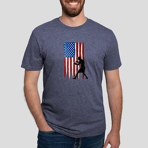 USA Flag Team Boxing Mens Tri-blend T-Shirt