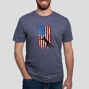 USA Flag Team Volleyball Mens Tri-blend T-Shirt