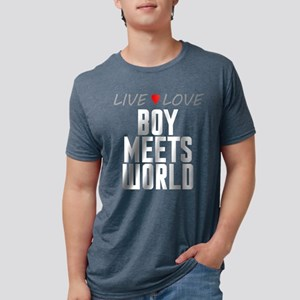 Live Love Boy Meets World Mens Tri-blend T-Shirt