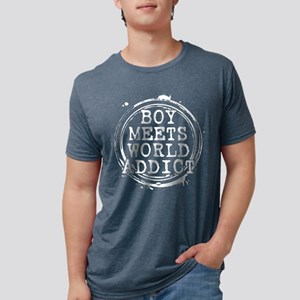 Boy Meets World Addict Stamp Mens Tri-blend T-Shir