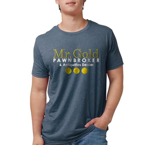 Mr. Gold Pawnbroker Mens Tri-blend T-Shirt