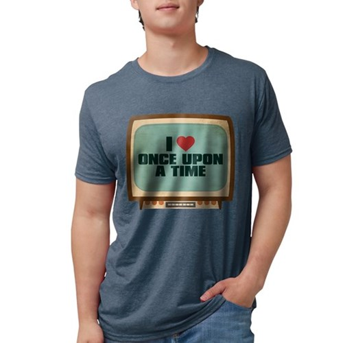 Retro I Heart Once Upon a Tim Mens Tri-blend T-Shi