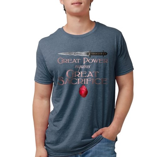 Great Power Requires Great Sa Mens Tri-blend T-Shi