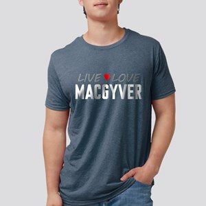 Live Love MacGyver Mens Tri-blend T-Shirt