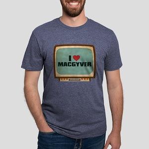 Retro I Heart MacGyver Mens Tri-blend T-Shirt