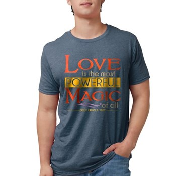 Love is the Most Powerful Magic Mens Tri-blend T-S
