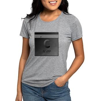 Carbon (C) Womens Tri-blend T-Shirt