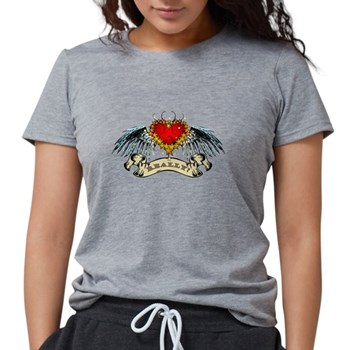 Really? Winged Heart Womens Tri-blend T-Shirt