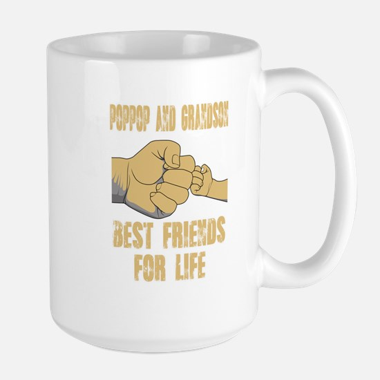 POPPOP AND GRANDSON BEST FRIEND FOR LIFE Mugs