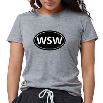 WSW Black Euro Oval Womens Tri-blend T-Shirt