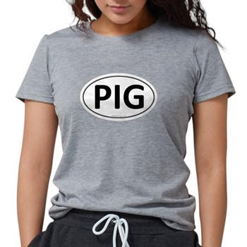 PIG Euro Oval Womens Tri-blend T-Shirt