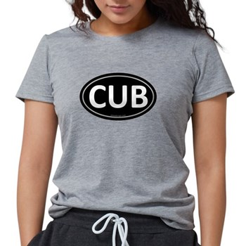 CUB Black Euro Oval Womens Tri-blend T-Shirt