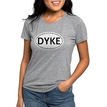 DYKE Euro Oval Womens Tri-blend T-Shirt