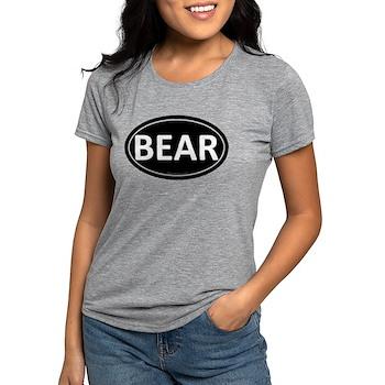 BEAR Black Euro Oval Womens Tri-blend T-Shirt