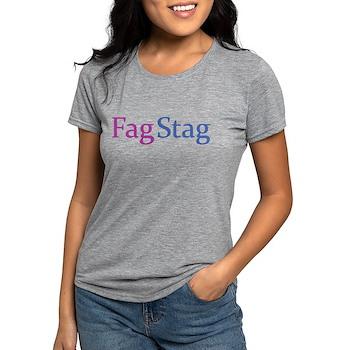 Fag Stag Womens Tri-blend T-Shirt