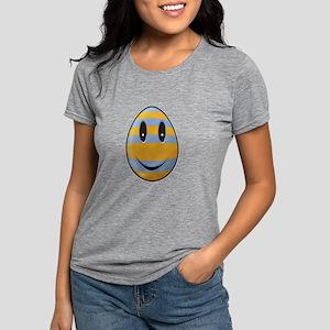 Smiley Easter Egg Womens Tri-blend T-Shirt